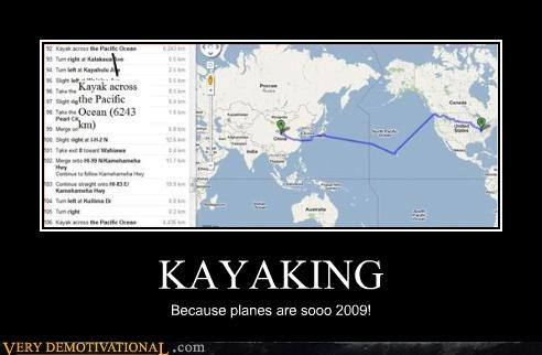 google maps,directions,idiots,kayak