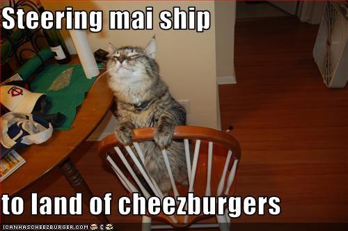 chair cheezburger ship steering - 3357459712