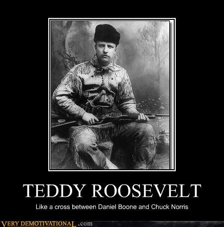 america chuck norris guns heros presidents Pure Awesome teddy roosevelt - 3358360832