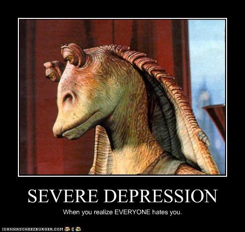 cgi depressed FAIL hate jar jar binks sci fi star wars - 3358675712