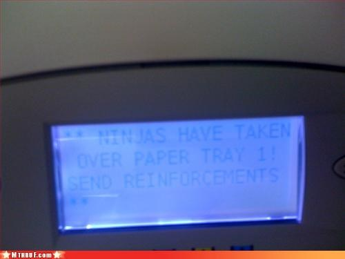 basic instructions boredom bug clever creativity in the workplace cubicle boredom cubicle prank error error message glitch hack hardware ingenuity inkjet ninja ninjas prank sass toner warning wiseass - 3359206400