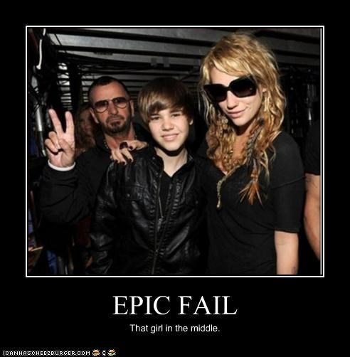 EPIC FAIL That girl in the middle.