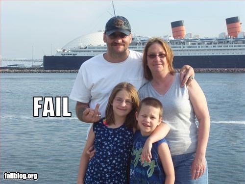 classy dad failboat family photos the finger - 3361889536