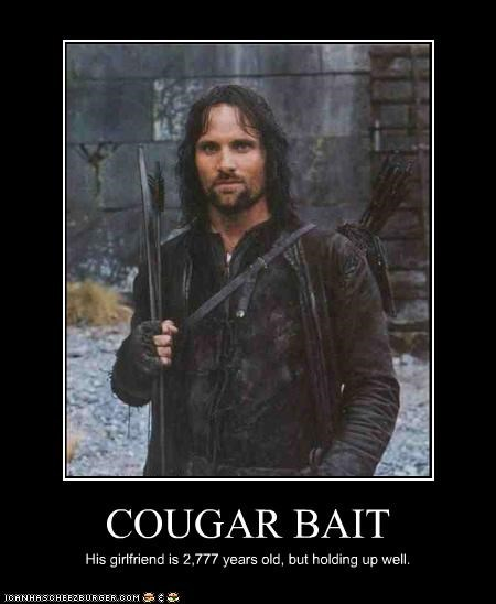 aragorn cougars Lord of the Rings old sci fi viggo mortensen - 3362943488