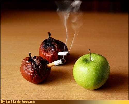 apple dangers edible PSA fruits-veggies smoking