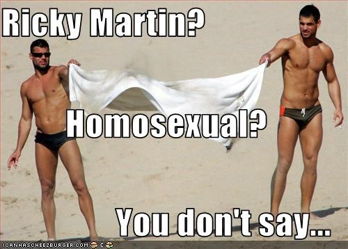 beach captain obvious gay ricky martin Speedos - 3364279040