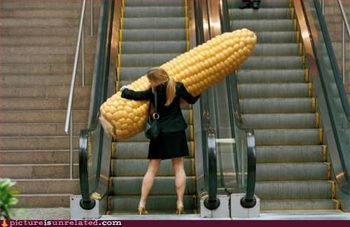 corn food large shopped shopping women wtf
