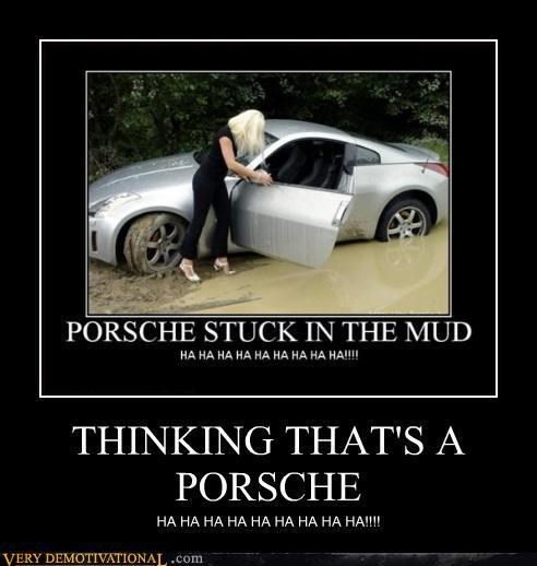 car,porsche,stuck,wrong