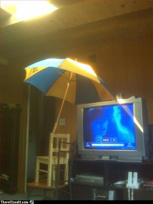 Mission Improbable,outdoors,sun,television,umbrella