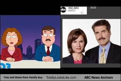 ABC,cartoons,family guy,mustache,news,news anchors