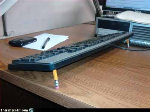 computer keyboard Office pencil propped up recycling-is-good-right - 3367952640
