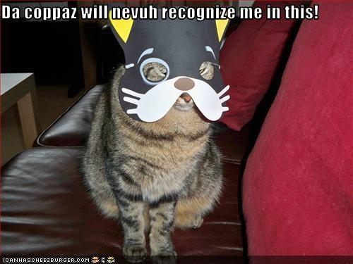 Da coppaz will nevuh recognize me in this!