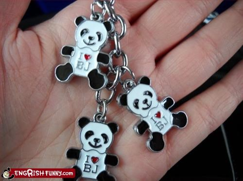 bj Keychain love panda product
