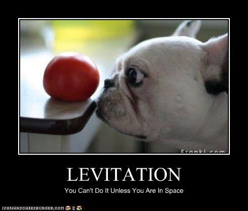 LEVITATION You Can't Do It Unless You Are In Space