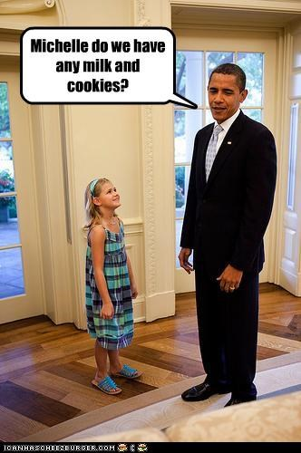 Michelle do we have any milk and cookies?