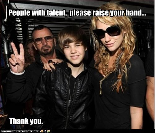 People with talent, please raise your hand... Thank you.