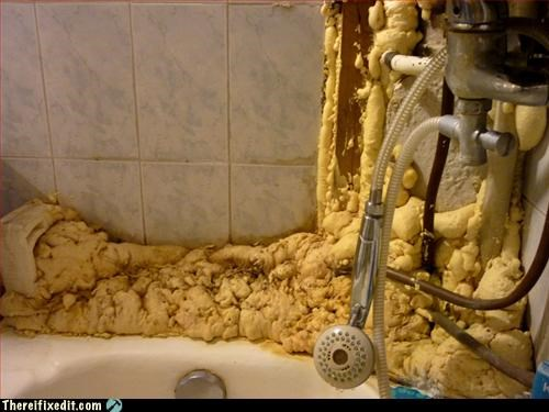 bathtub,caulk,overkill
