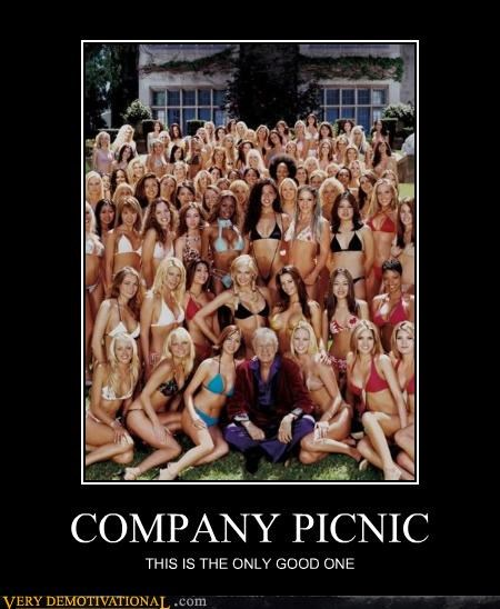 hugh hefner playboy company picnic - 3372081152