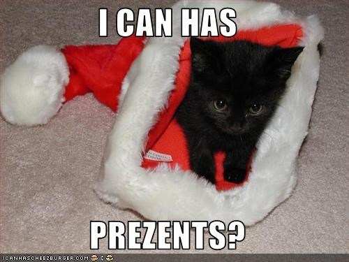 I CAN HAS  PREZENTS?