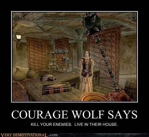 elder scrolls morrowind Courage Wolf video games - 3373358848