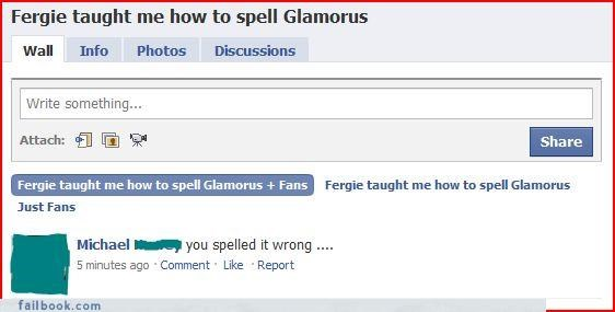bad idea,failed intentions,fan pages,The Spelling Wizard