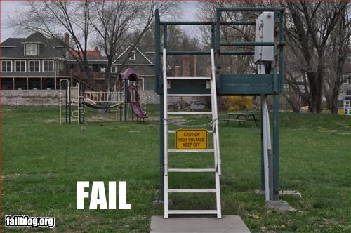 bad idea,failboat,g rated,high voltage,kids,playground