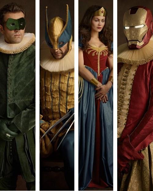 mashup,classic art,superheroes