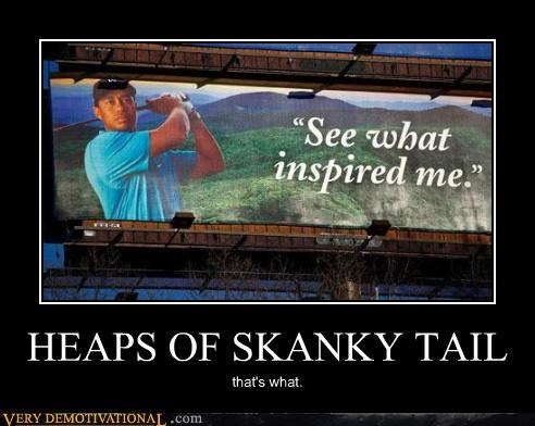 adultery,advertisments,banging,culture jamming,demotivational,hilarious,Sad,Tiger Woods