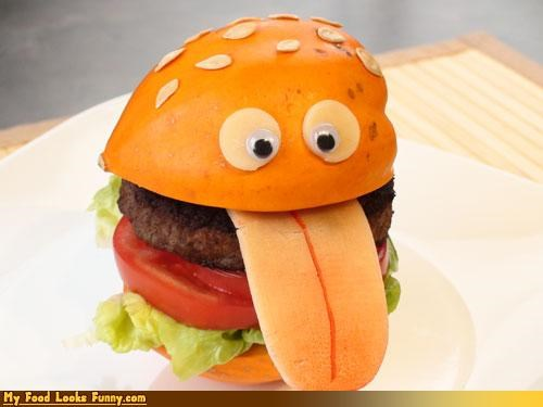 burgers and sandwiches cheeseburger cheezburger googly eyes hamburger tongue - 3375951104
