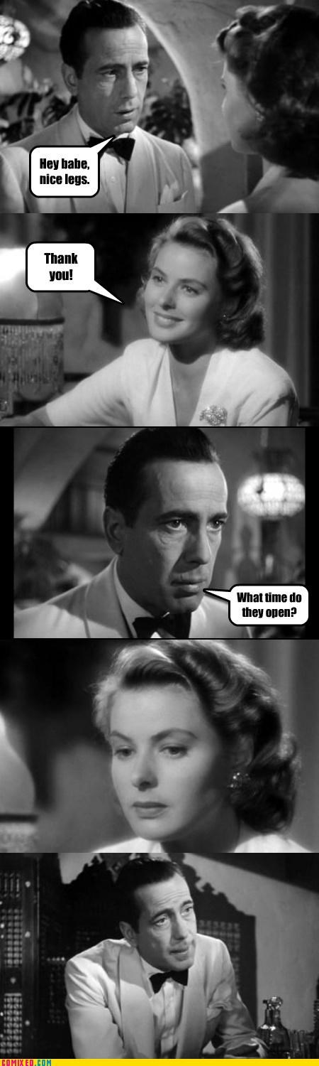 casablanca From the Movies opening pick-up lines