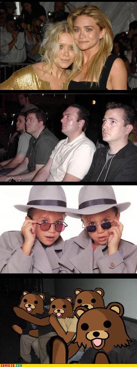 Olsen twins pedobear reaction guys the internets - 3377905920
