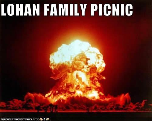 celeb explosions lindsay lohan nuclear blast nuclear war - 3378964736