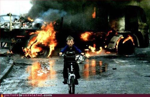 bikes,dgaf,explosion,kids,rule,wtf
