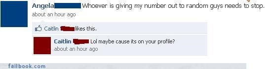 facepalm,phone numbers,privacy settings,slutty