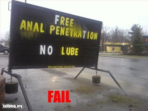 amazing anal failboat poorly worded sign - 3380355072