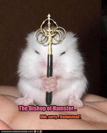 The Bishop of Hamster... Ohh, sorry...'Hampstead'.