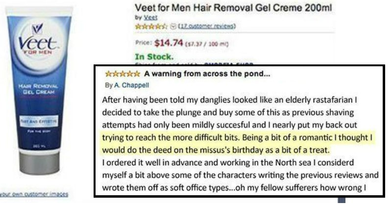 tifu story Dude Tries to Use Hair Removal 'Down There' and Is Filled With Instant Regret, Leaves Hilarious Amazon Review