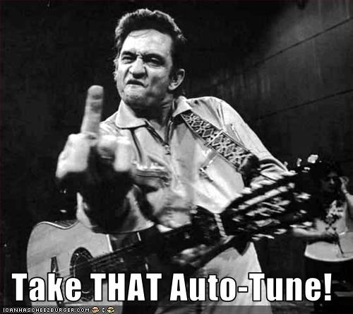 auto tune flipping the bird johnny cash singer