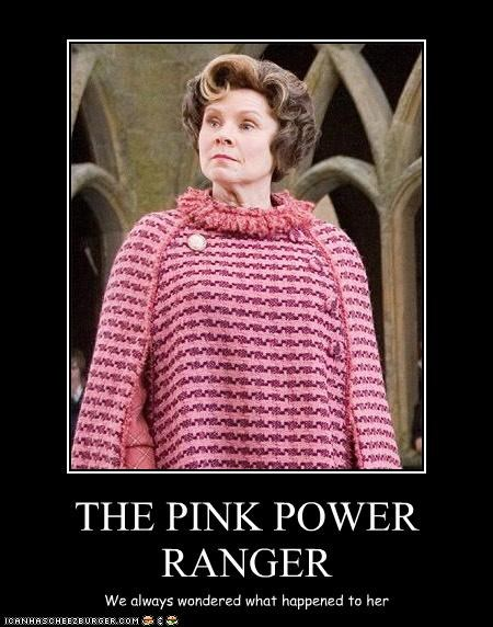 dolores umbridge,imelda staunton,Mighty Morphin Power Rangers,pink,where are they now