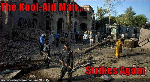 destruction,explosion,kool-aid man,Pakistan,terrorists,US consulate