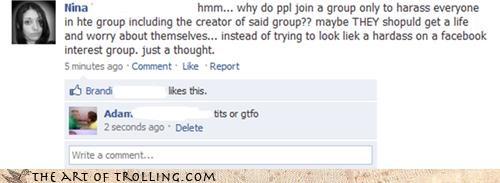 facebook gtfo lady fun bags tatas - 3384140032
