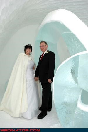 cold wedding couple frozen wedding ice sculpture ice wedding stockholm - 3384838656
