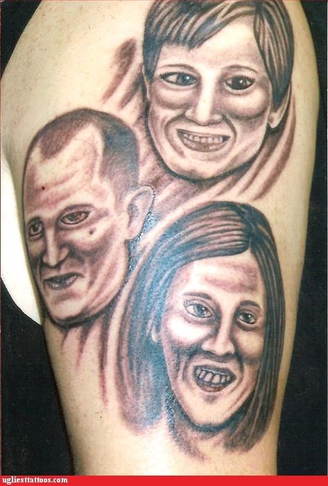 Funny picture of a horrible tattoo that I really hope that person was able to get removed, or is in a place that is not too visible.