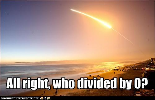 divide by 0,end of the world,nasa,space shuttle,sunset