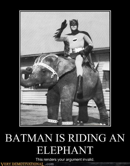 animals,argument,batman,comics,elephant,hilarious,invalid,Pure Awesome