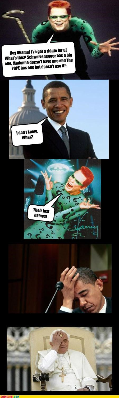 Arnold Schwarzenegger,celebutard,jim carey,Madonna,obama,pope