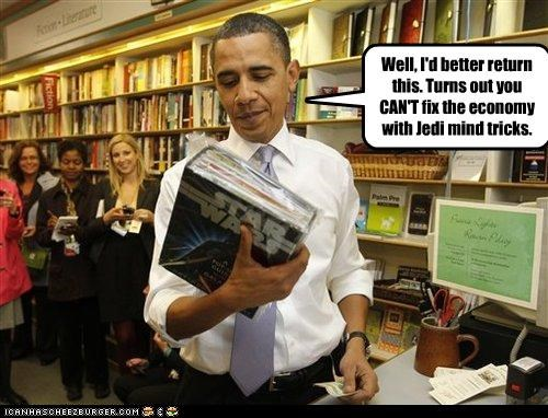 barack obama,economy,jedi mind tricks,movies,star wars