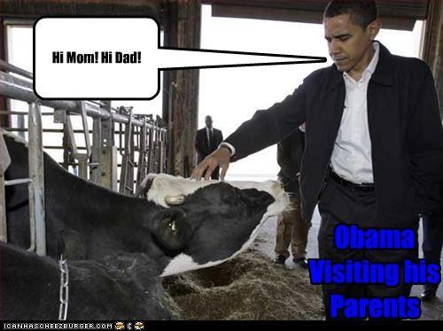 Obama Visiting his Parents Hi Mom! Hi Dad!