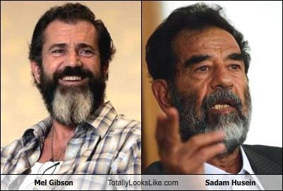 actor,beards,dictator,mel gibson,politician,Saddam Hussein