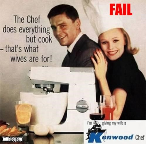 Ad chef failboat g rated retro sexist wife - 3387788544